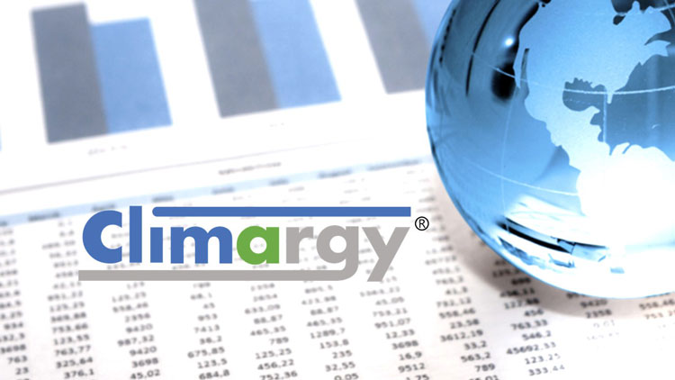 Climargy page header banner - globe and stats image
