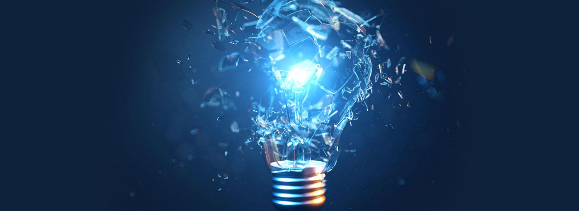 Slideshow - Shatter your Energy Paradigm - Blue Bulb